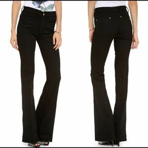 Anthropologie M.i.H Black Kick Flare Jeans Size 27